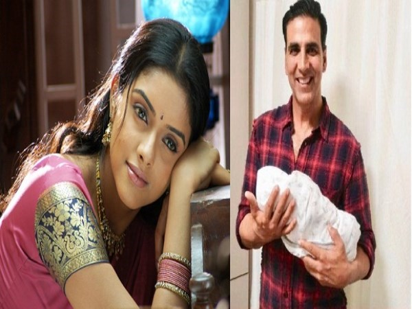 Akshay Kumar introduced actress Asins child to the world..,